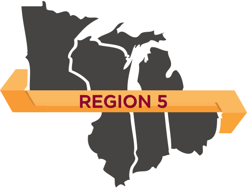 Map of region 5