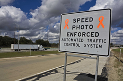 automated speed enforcement sign
