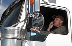 Yawning truck driver