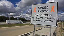 speed enforcement sign